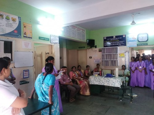 World Cancer Day-Health Awareness Programme on 4-2-2019 at Olavilai