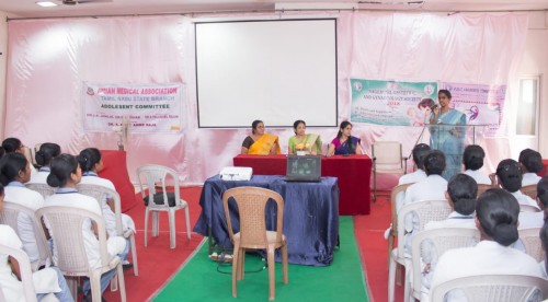 Obstetric & Gynaecology Society from nagercoil-Awareness Programme on 15-10-2018